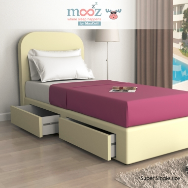 MaxCoil lvon and leo faux leather storage bed