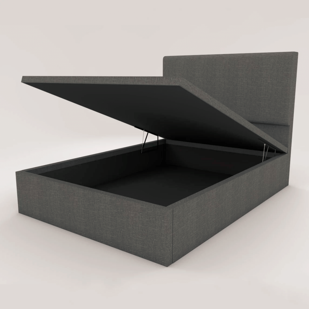 Devonne grey fabric storage bed