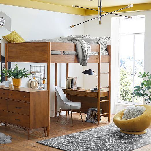 Mid-Century Loft Bed